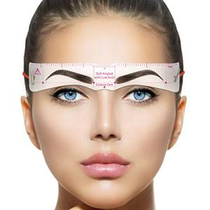 Eyebrow Stencils, Reusable Eyebrow Template, Eyebrow Shape Kit with Strap, 18 Fashionable Styles Extremely Elaborate Eyebrow Template, 9 Thick & 9 Thin Types Eyebrows Template for A Variety of Face