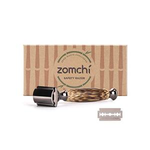Double Edge Safety Razor for Men or Women, Eco Razor with Natural Bamboo Handle, Unisex Sustainable Razor,Fits All Double Edge Razor Blades, Plastic-Free(Thick)