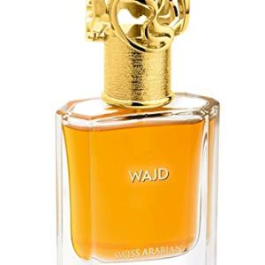 WAJAD, Eau de Perfume 50mL | Fruity, Floral, Amber Fragrance for Men and Women | Sultry Apple, Patchouli and Orris | Premium Unisex Parfum by Artisan Swiss Arabian Oud | Intense Cologne/Toilette Spray
