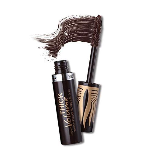 Waterproof Color Mascara, Premium Eye Mascara Eyeliner Charming Long Lasting Volume Building Mascara for Eyelash Eye Makeup, Makes Perfect Natural Bold Eyelashes