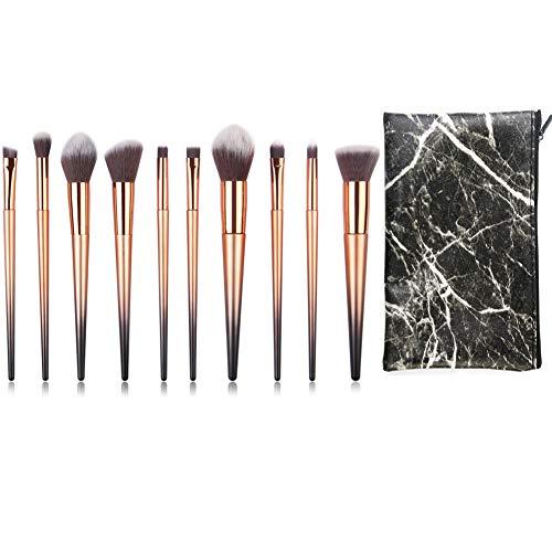 Makeup Brushes Set Premium Foundation Blending Blush Concealer Eye Face Lip Brushes for Powder Liquid Cream Complete Makeup Brushes Kit Synthetic Bristles Makeup Brush Bag