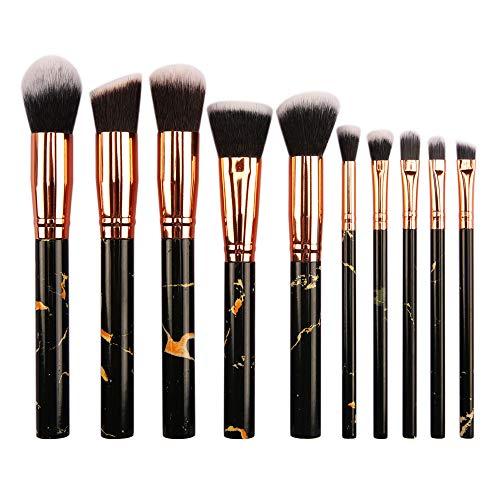Makekup Brushes Premium Cosmetic Set for Foundation Blending Blush Concealer Eye Shadow-Black