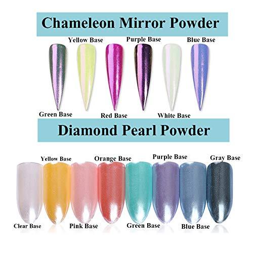 BORN PRETTY 4 Boxes Nail Art Powder Mirror Holographic Laser Colorful BORN PRETTY 4 Boxes Nail Art Powder Mirror Holographic Laser Colorful Neon Pearl Pigment Manicuring Glitter Dust.