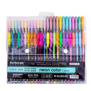 Fine Glitter Gel Pen Set,Coloring Art Marker Books Crafting Doodling Drawing,Highlighters Assorted Colors Non-Toxic Highlighter Markers (F)
