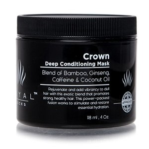 Royal Locks Crown Deep Conditioning Mask | Curly and Wavy Hair Treatment | Unique Blend of Natural Nourishing Botanicals | 4 Oz