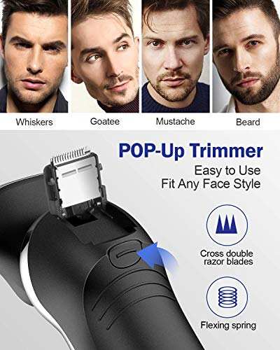OriHea Electric Shaver for Men 3D Rechargeable Rotary Razors Beard Trimmer OriHea Electric Shaver for Men 3D Rechargeable Rotary Razors Beard Trimmer Face Shavers 100% Waterproof IPX7 Wet & Dry Cordless with Pop-up Trimmer and Protective Case.