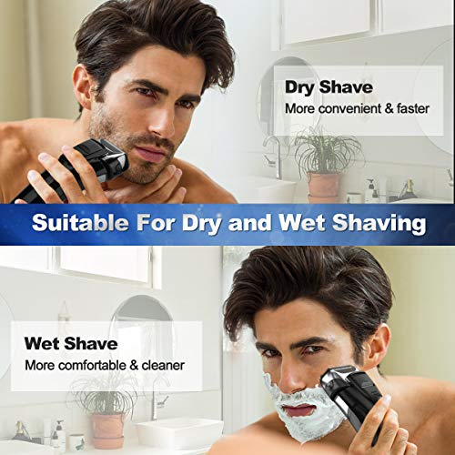 Electric Razor, Electric Shavers for Men, Dry Wet Waterproof Mens Foil shaver Package deal Dimensions: 1.2 x 1.6 x 2.eight inches