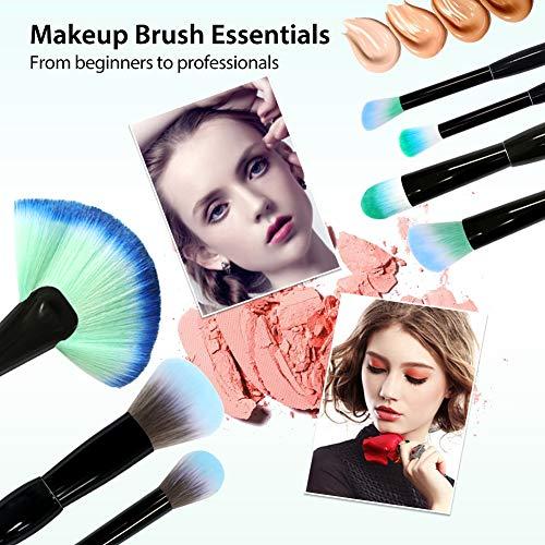 BAIMEI Makeup Brushes with a Makeup Sponge BAIMEI Makeup Brushes with a Makeup Sponge, Premium Synthetic Foundation Powder Brushes Face Makeup Brushes 7 Pcs Makeup Brush Set.