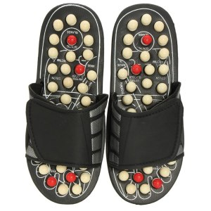 One Pair Foot Massage Shoes Man And Women Rotating Foot Acupuncture