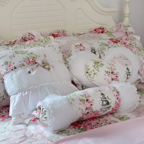 Pink And White Throw Pillows