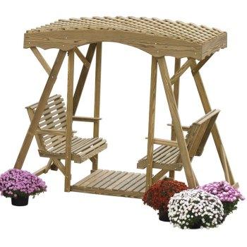 luxcraft-wood-doublelawnglider-plainlattice
