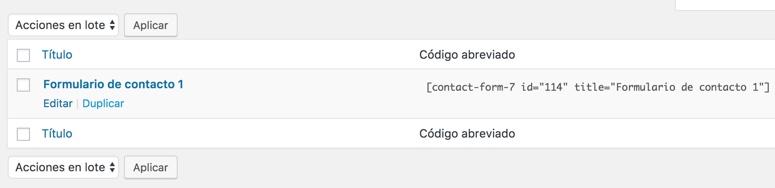 Contact Form 7 Default Shortcode