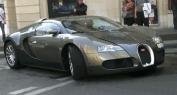 Samuel Eto'o à l'intérieur de sa Bugatti Veyron