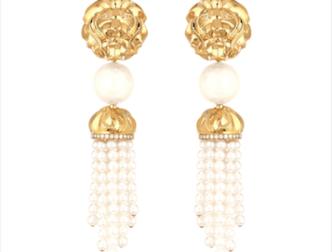 Boucles d'Oreille Lion d'or