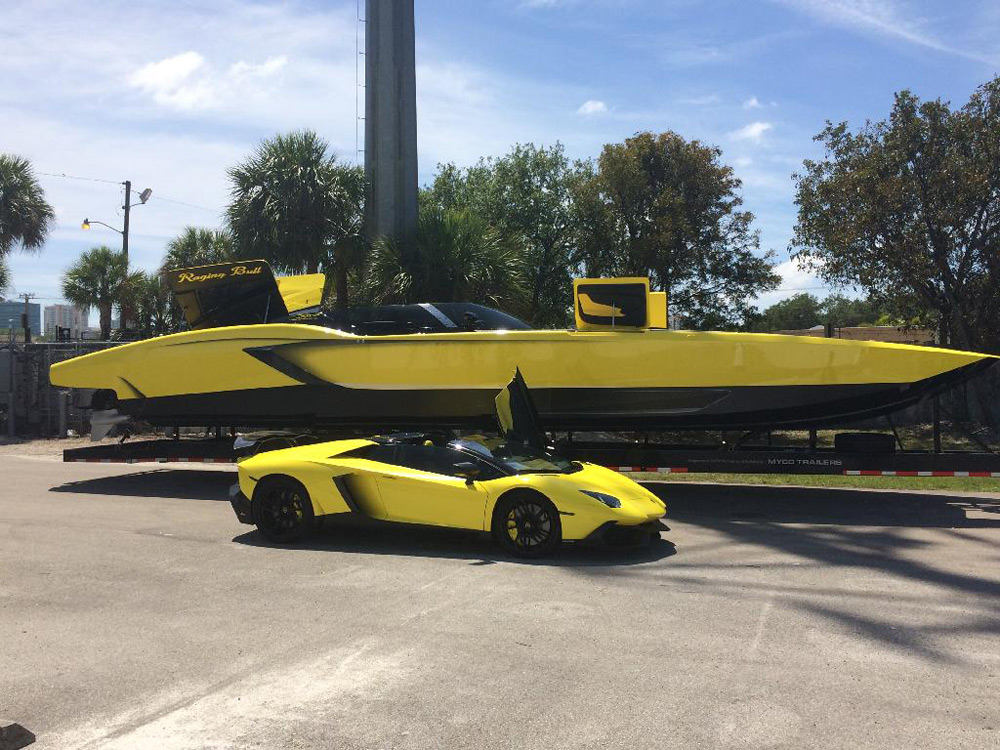 "Lamborghini Aventador LP 720-4 ""50 Anniversario Edition"" in A Boat Version"