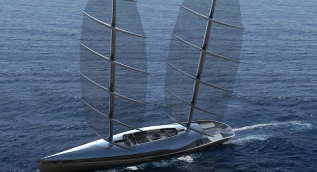 Le Yacht Cauta : Un voilier futuriste inspiré des albatros