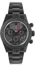 mad-collector-daytona-skeleton-II-noire-ciselee-diamants-noirs