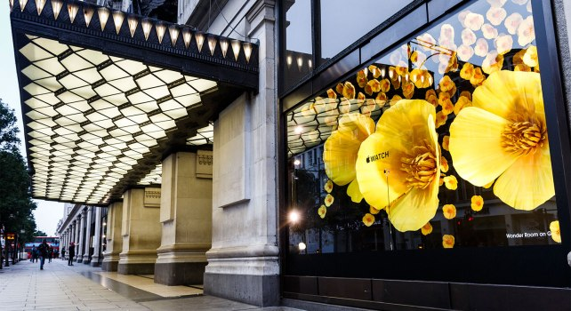 Selfridges : l'Apple Watch occupe tout le magasin de luxe londonien