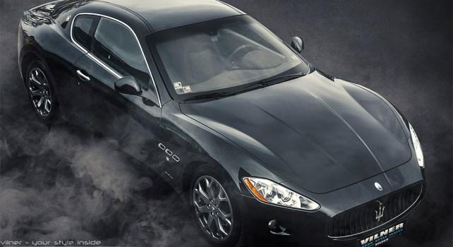 Vilner Maserati GranTurismo : Un intérieur rouge et noir du plus bel effet
