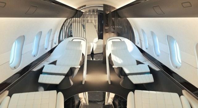 Yasava Solutions Astral Design : Un intérieur de jet confortable et élégant