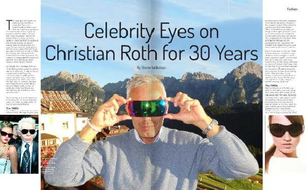 Celebrity Eyes on Christian Roth article on Luxe Beat Magazine