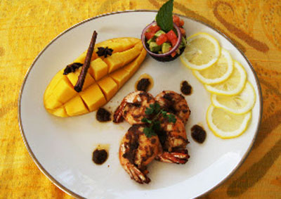 Premchit Aromatic Prawns With Mango and Avocado Salad