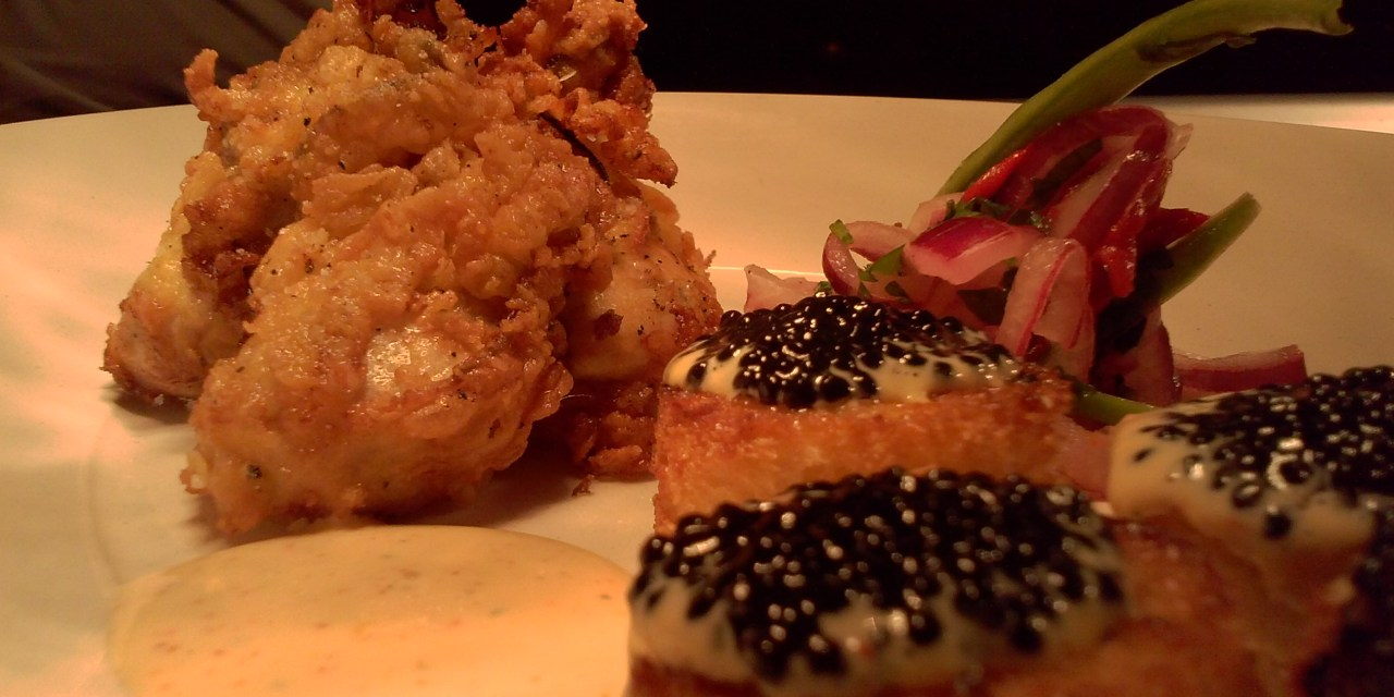 Crispy Pacific Oysters with Black Truffle Caviar