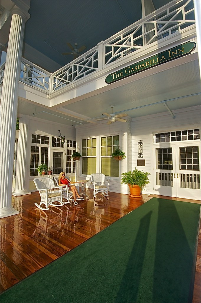 Majestic pillars and white glove service sums up the wow factor upon entering the Gasparilla Inn's main lobby.