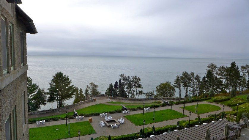 Le Manoir Richelieu looking at the St Lawrence River, Photo Maralyn D. Hill
