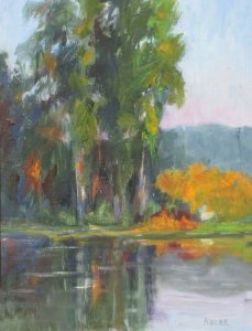 Autumn Lake Reflections, $800