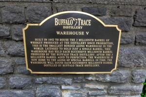 Buffalo Trace Plaque