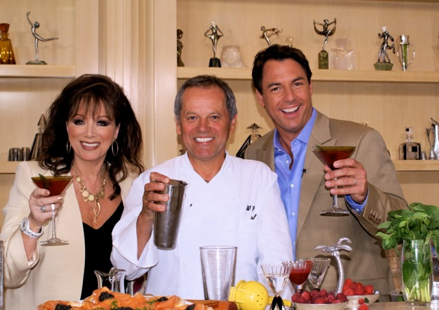 Jackie Collins, Wolfgang Puck and Mark Steines. Photo by Amy Beadle Roth.