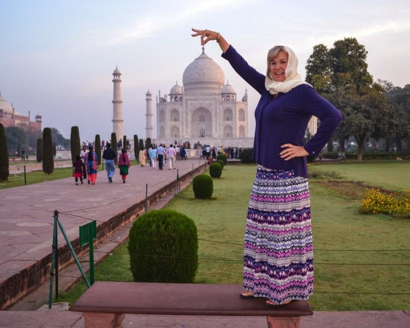 Playing with the Taj