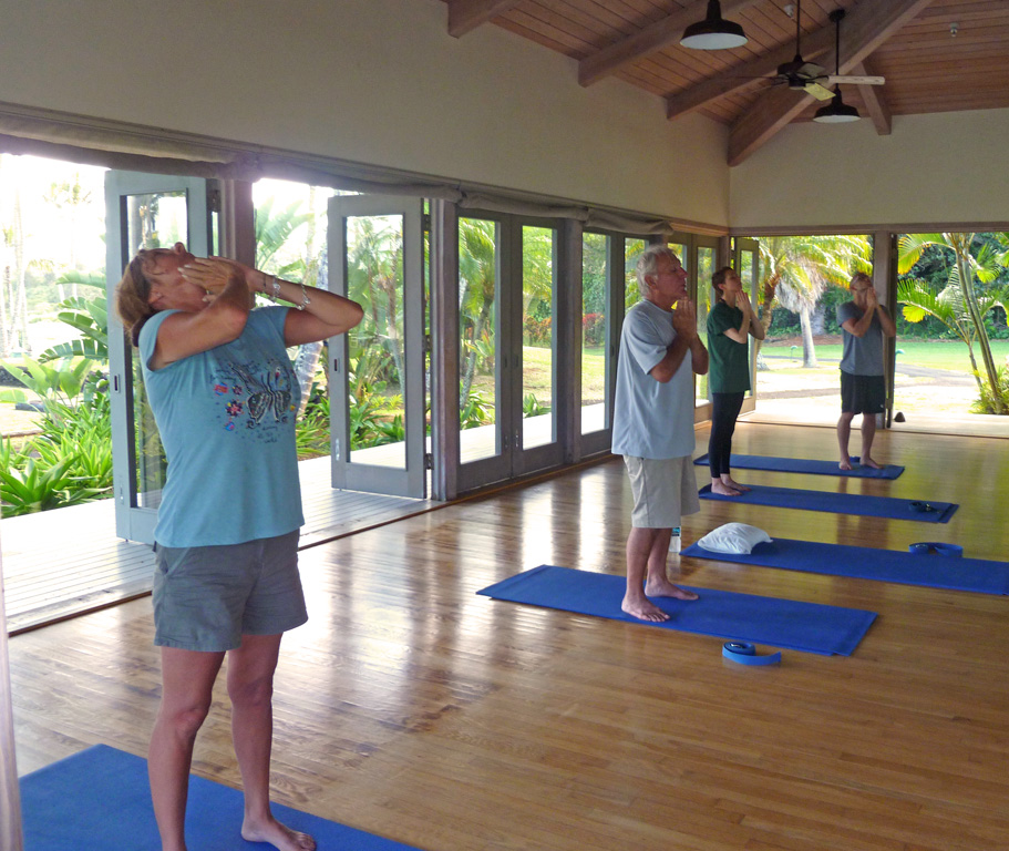 Yoga Class at Travaasa Hana (Photo by Sandra Chambers}