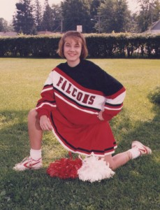 The cheerleader who went in the ditch (insert joke here), 1995.