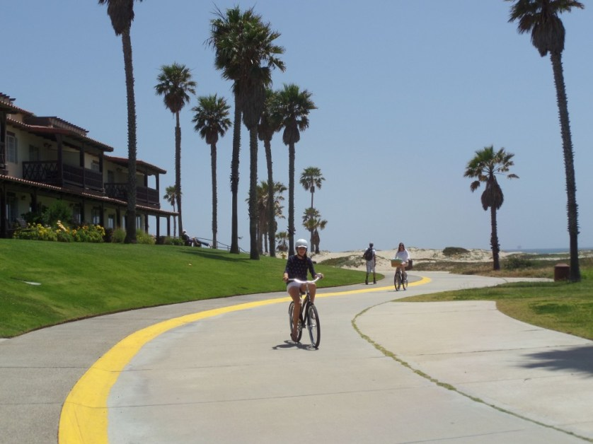 Mandalay Bay Beach Resort, Oxnard, CA, is on the beach with fun walks or bicycling. Photo by Allan Kissam
