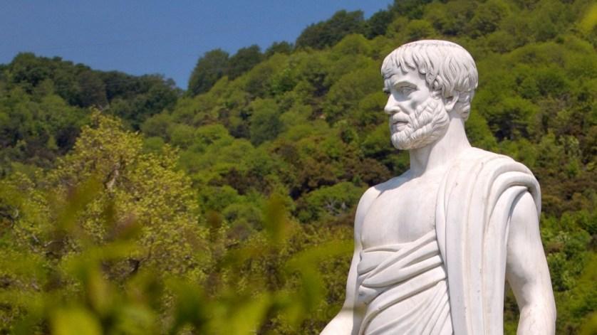 Statue in Aristotle's Park Stagira