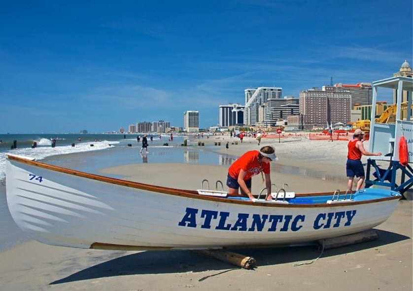 Waves break along a brilliant backdrop at the Atlantic City Seashore. Image Credit © Dale Sanders 2014.