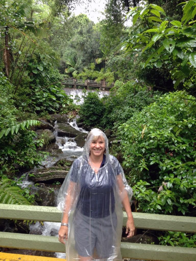 Getting wet in El Yunque Rainforest