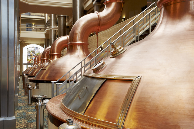 The old Pabst Brewing Tanks are the Centerpiece of Brewhouse Inn