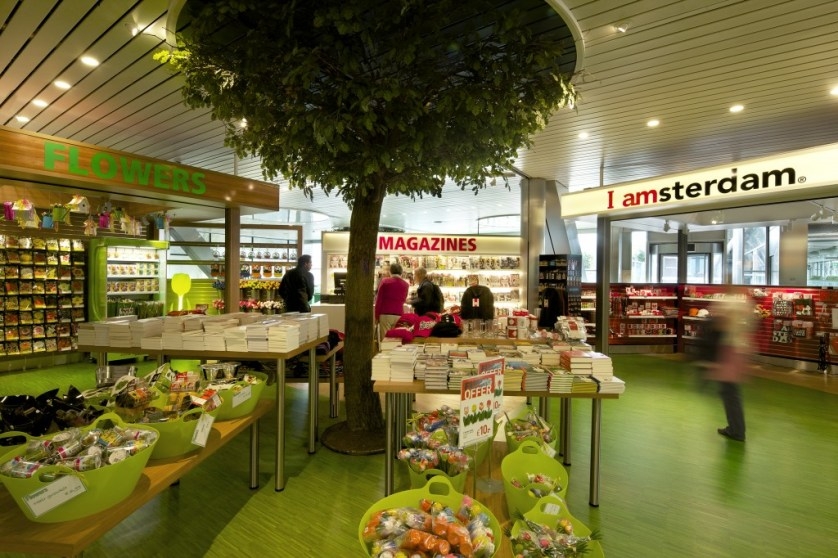 The shops at Airport Park Schiphol. Photo by Maurice Mentjes, courtesy Amsterdam Airport Schiphol