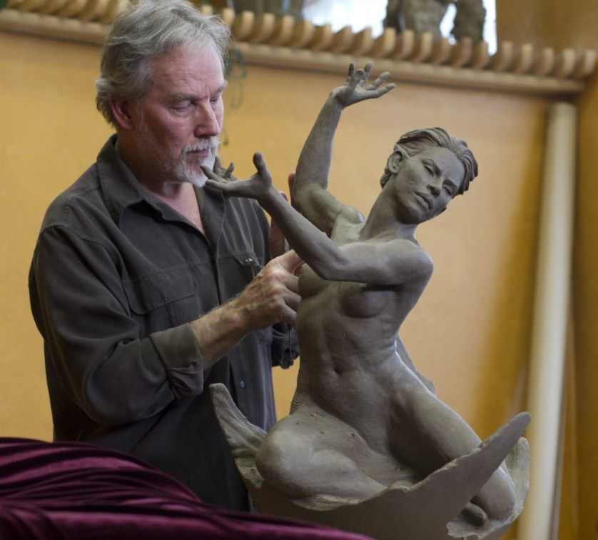 Martin Eichinger sculpting Fortify My Spirit - www.cordair.com
