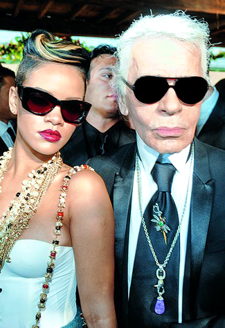 Rihanna and Karl Lagerfeld in Christian Roth