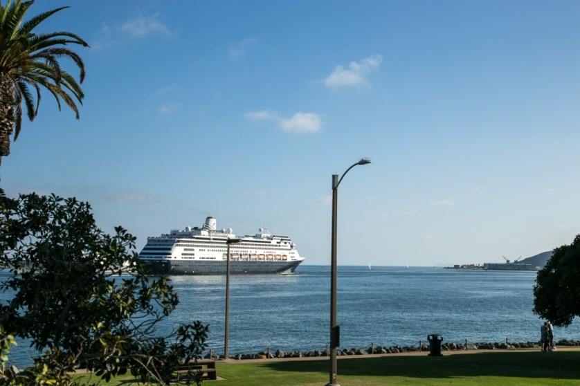 Cruise ship passing Shelter Island
