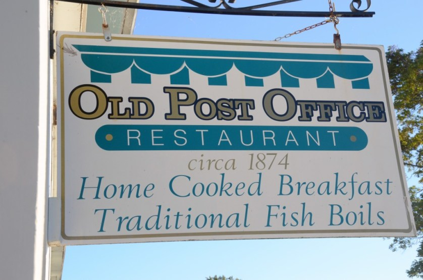Old Post Office Restaurant Sign by Karin Leperi