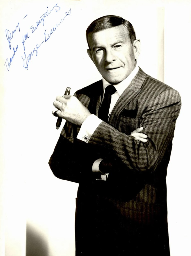 George Burns, Image courtesy of museumsanfernandovalley.blogspot.com