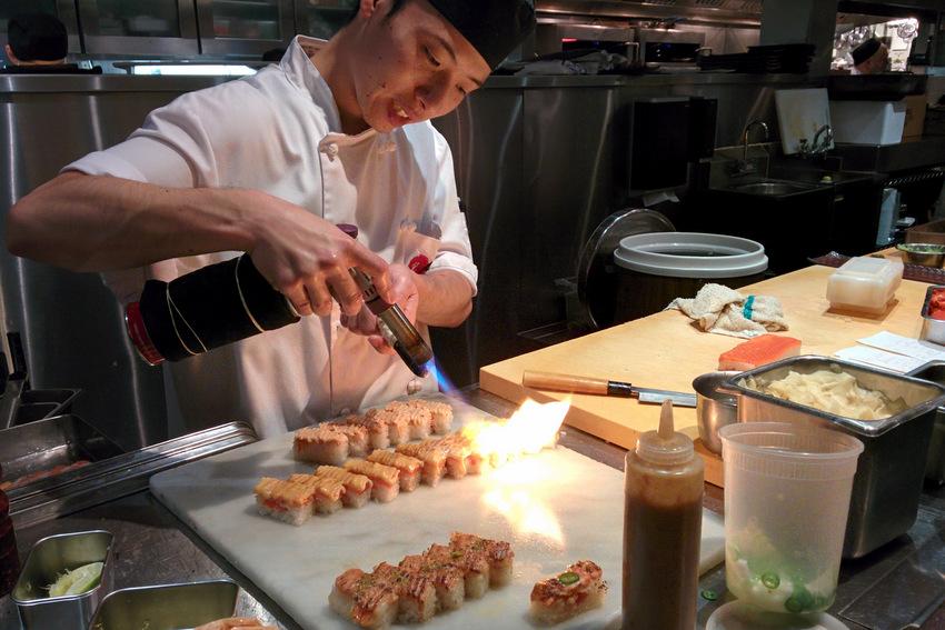 Seared sushi at Minami