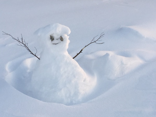 Even the snowmen welcome you with open arms in the Yukon!