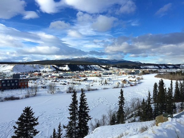 Overlooking Whitehorse-Yukon's capital