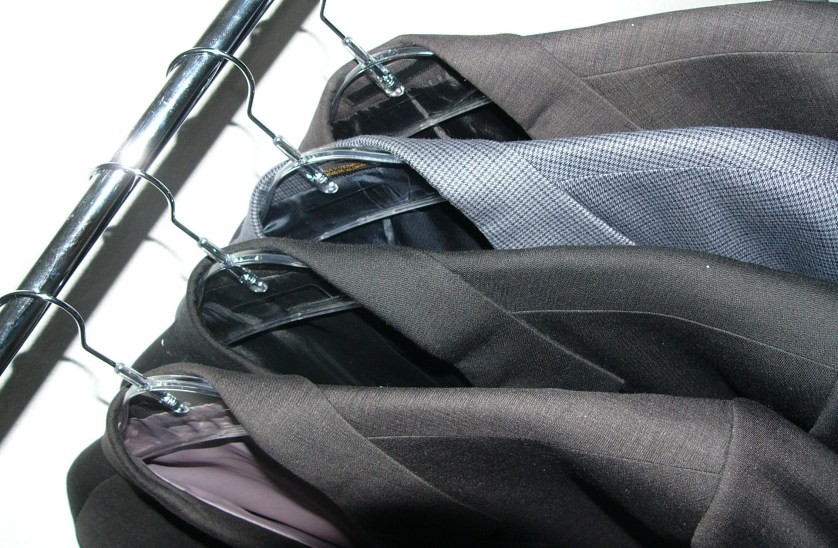 Business suits on the rack